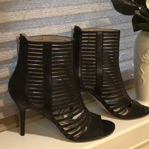 Michael Kors Cage Peep Toe Ankle Boot